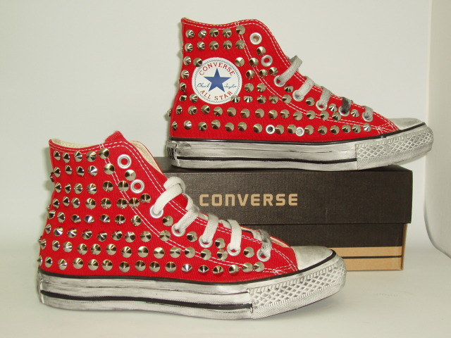 converse all star donna alte rosse