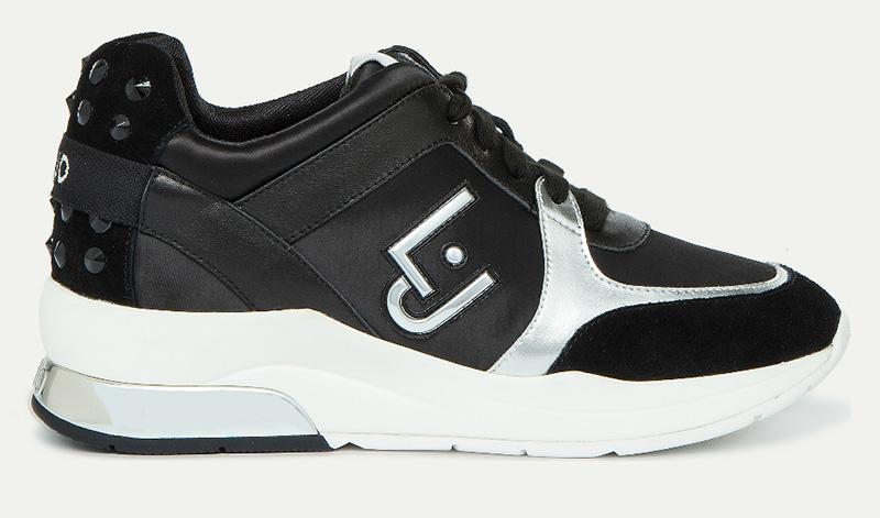 sport-shoes-satin-nero-Liu-Jo-negozio-Prato