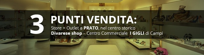 I NOSTRI PUNTI VENDITA: Store + Outlet a Prato, nel centro storico Divarese shop – Centro Commerciale I Gigli di Campi